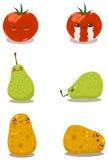 Divertimento divertente Pack2 della frutta Fotografia Stock Libera da Diritti