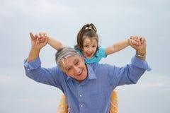 Divertimento do divertimento da família Imagem de Stock Royalty Free