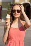 Divertimento do gelado do verão Foto de Stock