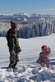 Divertimento do inverno Foto de Stock