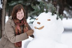 Divertimento do inverno Fotografia de Stock