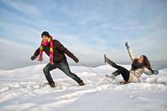 Divertimento do inverno Imagens de Stock