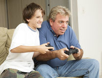 Divertimento do jogo video Foto de Stock