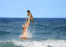 Divertimento do mar foto de stock royalty free