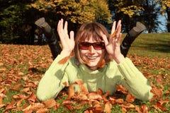 Divertimento do outono Imagens de Stock