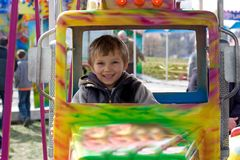 Divertimento do parque de diversões Imagem de Stock Royalty Free