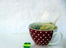 Divertimento do respingo do chá Fotografia de Stock Royalty Free