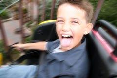Divertimento do roller coaster da criança fotos de stock royalty free