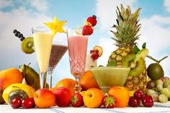 Divertimento do Smoothie ou do milkshake Foto de Stock Royalty Free