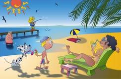 Divertimento do sol do mar Imagens de Stock Royalty Free