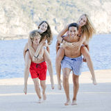 divertimento do verão dos adolescentes Imagens de Stock Royalty Free