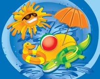 Divertimento do verão (ilustração) Fotografia de Stock Royalty Free