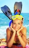 Divertimento do verão na praia foto de stock royalty free