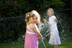 Divertimento do verão para miúdos Fotos de Stock Royalty Free