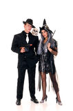 Divertimento dos pares de Halloween fotos de stock