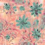 Divertimento e fundo floral Funky Fotos de Stock