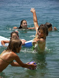 Divertimento e giochi sul mare Fotografia Stock