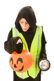 Divertimento e sicurezza di Halloween fotografia stock