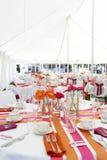 Divertimento e tabelas funky do casamento Fotos de Stock Royalty Free