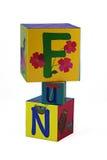 Divertimento em blocos das crianças Imagem de Stock Royalty Free