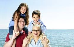 Divertimento feliz da família Fotografia de Stock Royalty Free