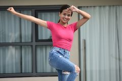 Divertimento Filipina Female At Condo novo imagens de stock
