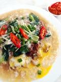 Divertimento fritto di hor del manzo, alimento asiatico della via immagini stock