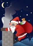 Divertimento il Babbo Natale Fotografie Stock