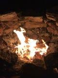 Divertimento intorno al fuoco Immagine Stock