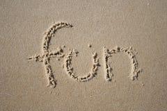 Divertimento na areia Fotografia de Stock