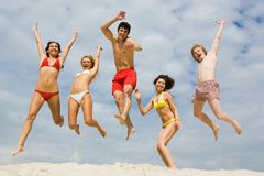 Divertimento na areia Foto de Stock Royalty Free