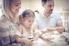 Divertimento na cozinha fotos de stock royalty free
