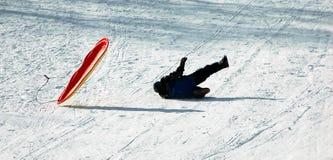 Divertimento na neve fotografia de stock