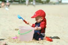Divertimento na praia Fotografia de Stock Royalty Free