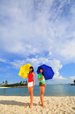 Divertimento na praia 31 Fotografia de Stock Royalty Free