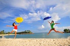 Divertimento na praia 36 Imagem de Stock