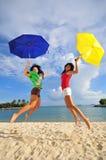Divertimento na praia 43 Imagens de Stock Royalty Free