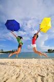 Divertimento na praia 44 Imagem de Stock Royalty Free