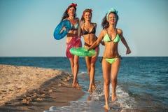 Divertimento na praia Fotografia de Stock