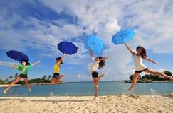 Divertimento na praia 53 Imagem de Stock