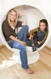 Divertimento nella bolla Fotografie Stock