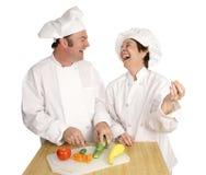 Divertimento nella cucina Fotografie Stock Libere da Diritti