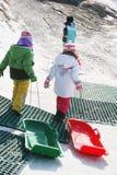 Divertimento nella neve fotografia stock libera da diritti