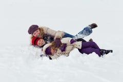 Divertimento nella neve Fotografie Stock