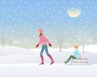 Divertimento nella neve Royalty Illustrazione gratis