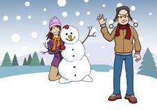 Divertimento nella neve Illustrazione Vettoriale