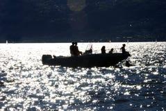Divertimento no lago Como Fotos de Stock Royalty Free