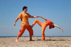 Divertimento sulla spiaggia Fotografia Stock Libera da Diritti