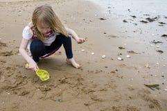 Divertimento sulla spiaggia Fotografie Stock Libere da Diritti