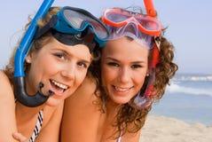 Divertimento sulla vacanza della spiaggia di estate Fotografia Stock